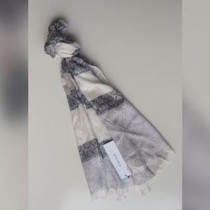 Calvin Klein Pashmina Scarf Grey & White